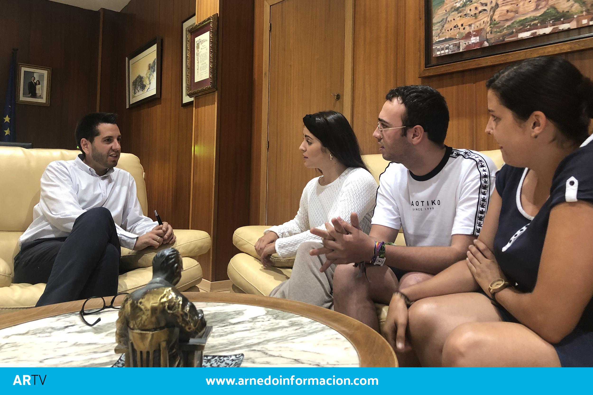 Javier García, Sofía Ezquerro, David Garrido y Sandra Rodríguez