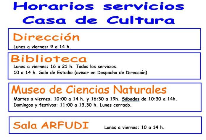 Cambio de horario de la Biblioteca y del Museo de Ciencias Naturale