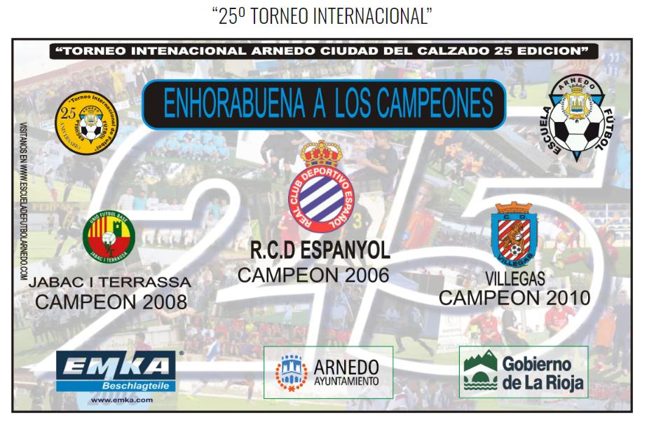Ganadores 25 torneo Internaciona Ciudad del Calzado Arnedo