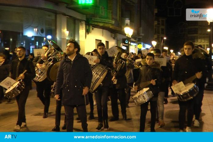 Pasacalles de la agrupación musical Santa Cecilia en Arnedo