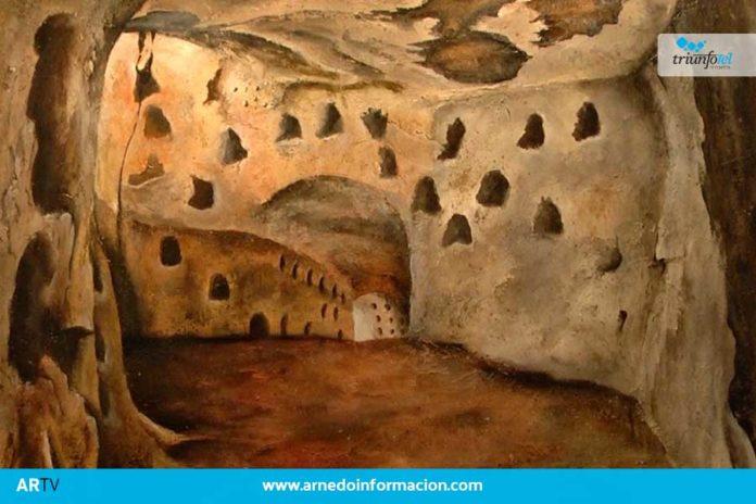 Félix Martínez-Losa expone en el Centro Caja Rioja de Arnedo una muestra de pinturas entorno a las cuevas arnedanas y de los alrededores.
