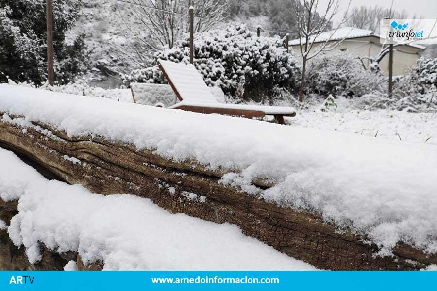 La nieve llega a la comarca de Arnedo