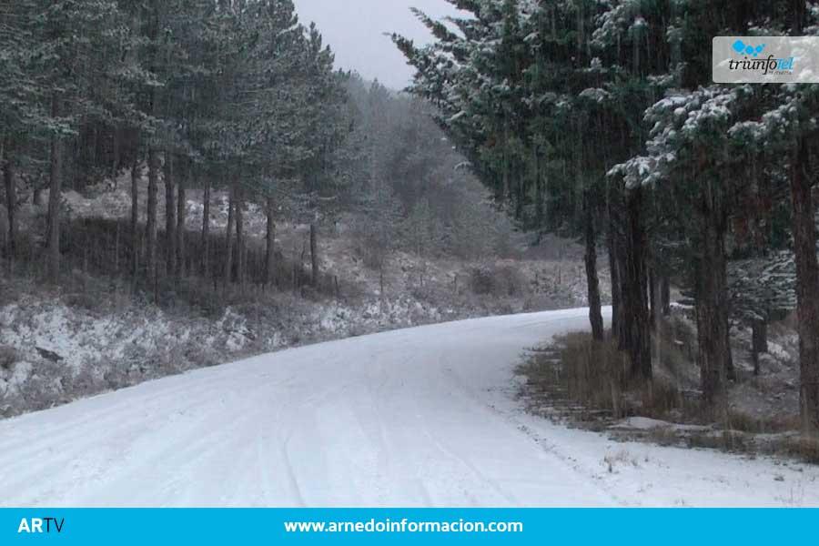 la nieve vuelve a la comarca de Arnedo