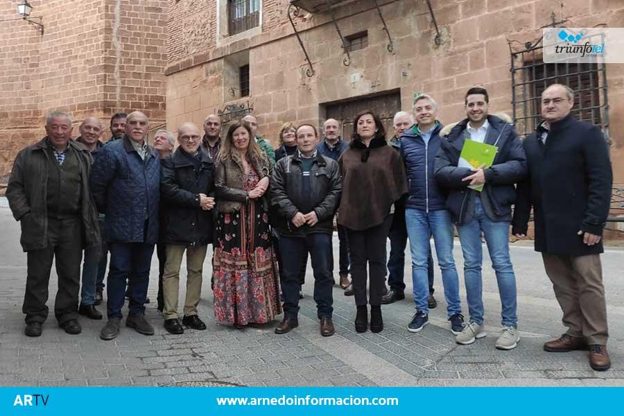 El Gobierno de La Rioja se reúne en Herce con los alcaldes Del Valle del Cidacos