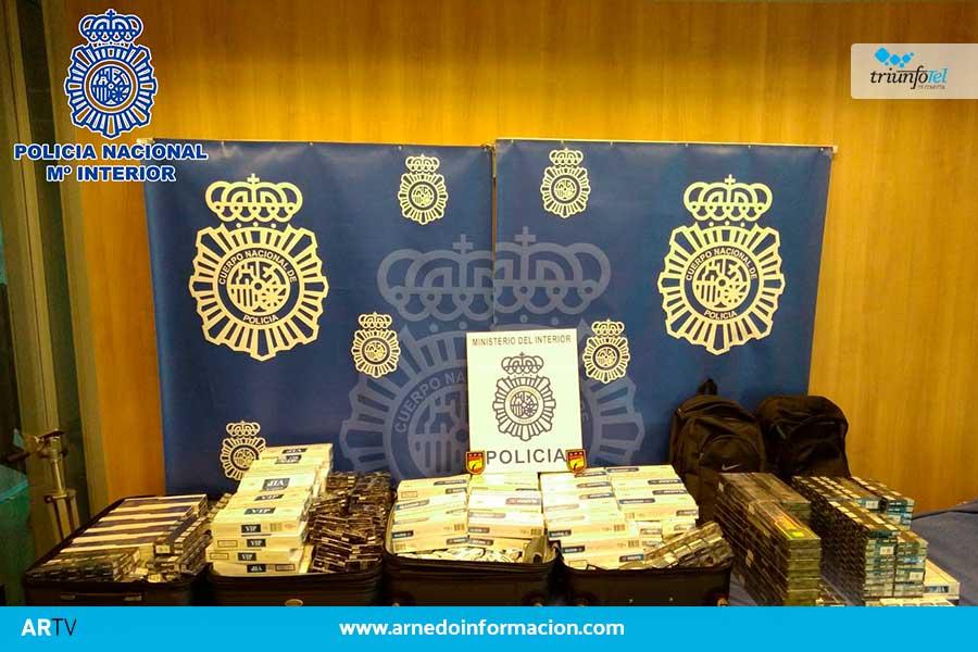 La Policía Nacional ha intervenido más de 2.800 cajetillas de tabaco que iban a ser distribuidas de forma ilícita en Arnedo