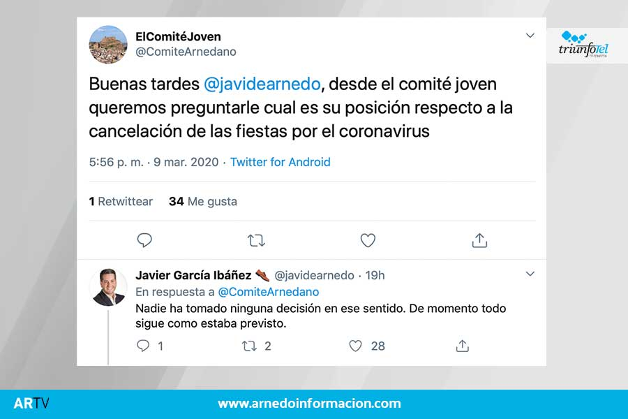El alcalde de Arnedo respondía así sobre posibles medidas sobre las Fiestas de San José