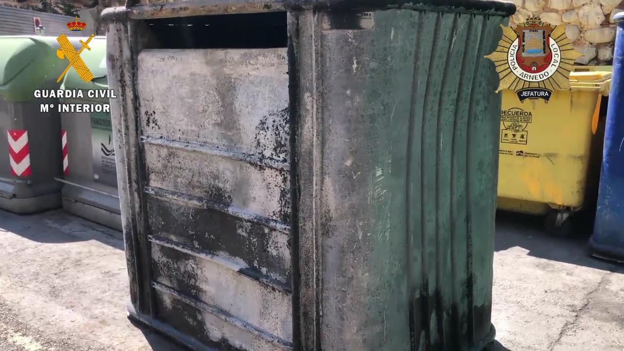 quema de dos contenedores en Arnedo
